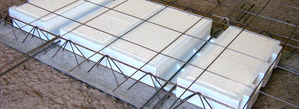 Laje pré-fabricada de isopor