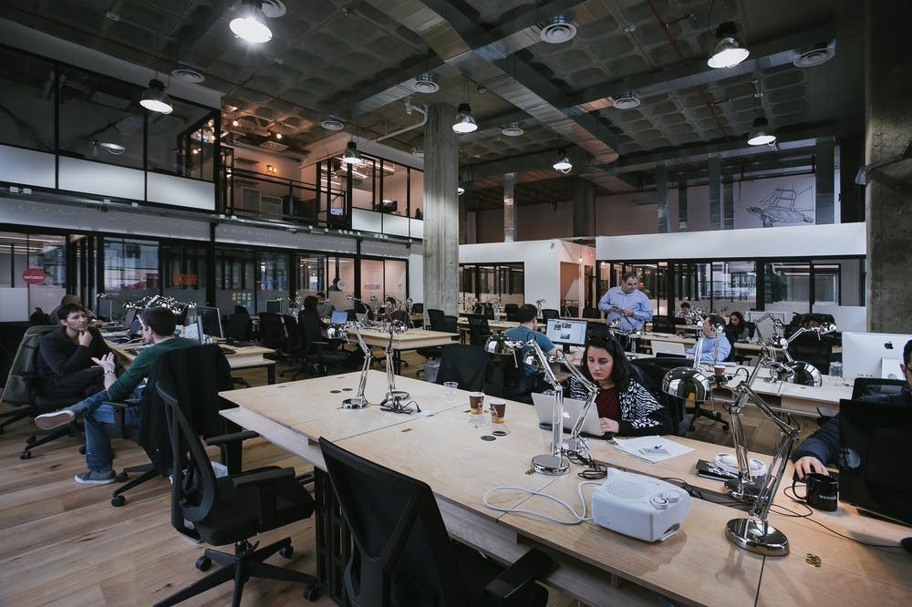 Laje Nervurada Aparente - We Work Tel Aviv