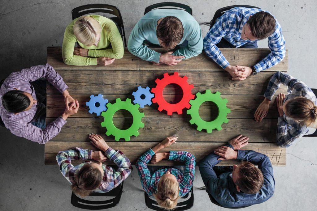 Ilustração subjetiva do processo de inovação nas empresas