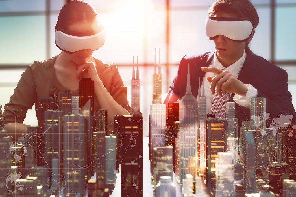 Pessoas utilizando novas tecnologias em um projeto, demonstrando a inovação na construção civil