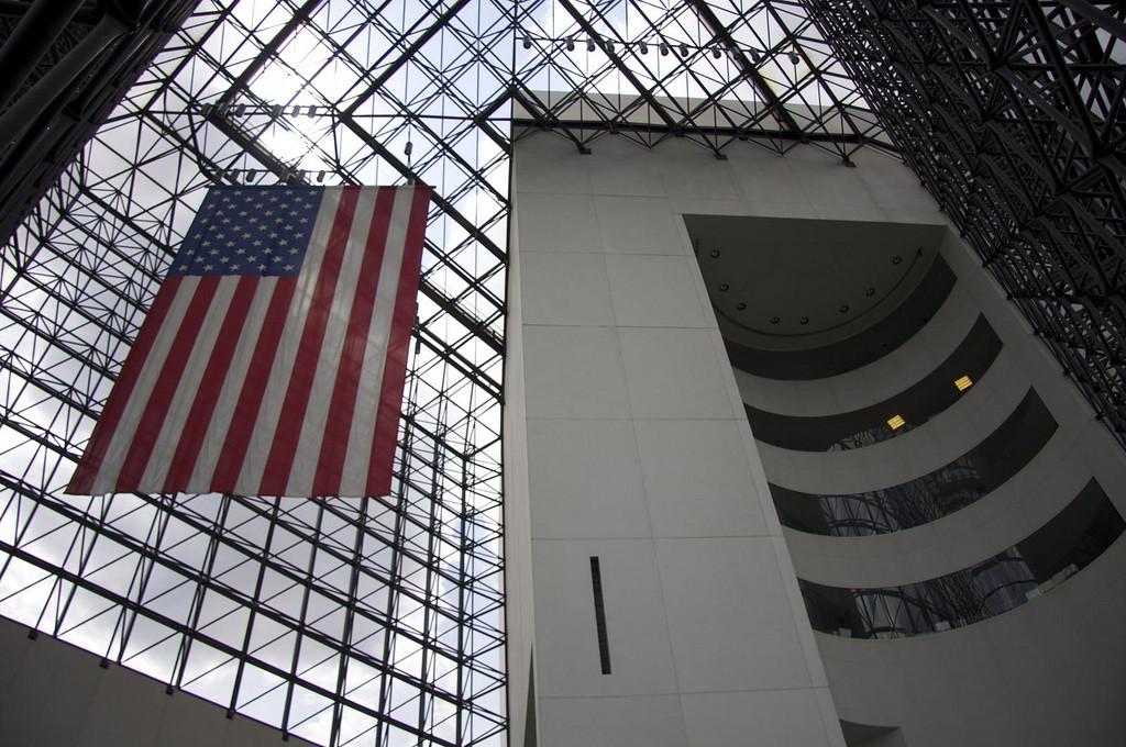 Área interna do JFK Presidential Library