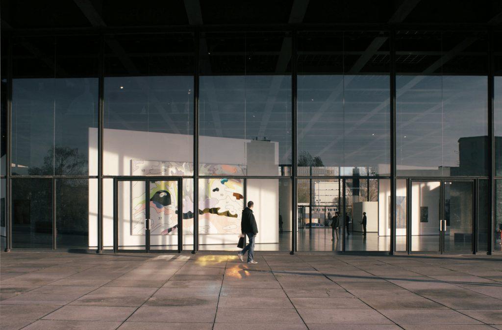 Interior da Nova Galeria Nacional de Berlim - Neue Nationalgalerie