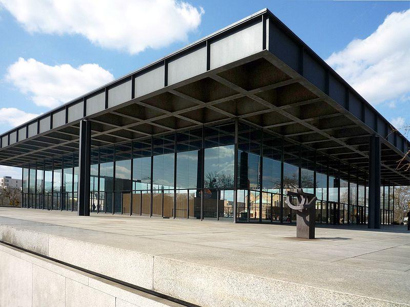 Fachada da Neue Nationalgalerie - Nova Galeria Nacional de Berlim