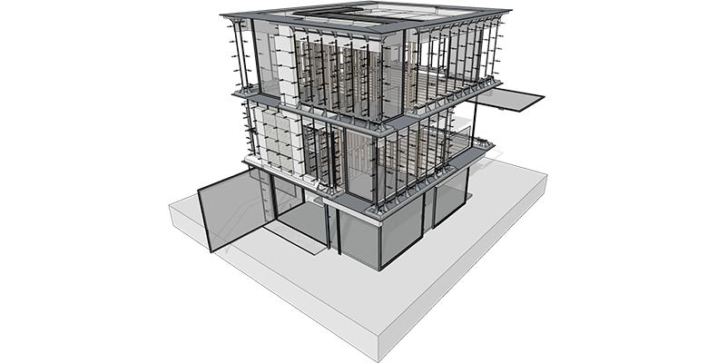 protótipo 3D de um prédio