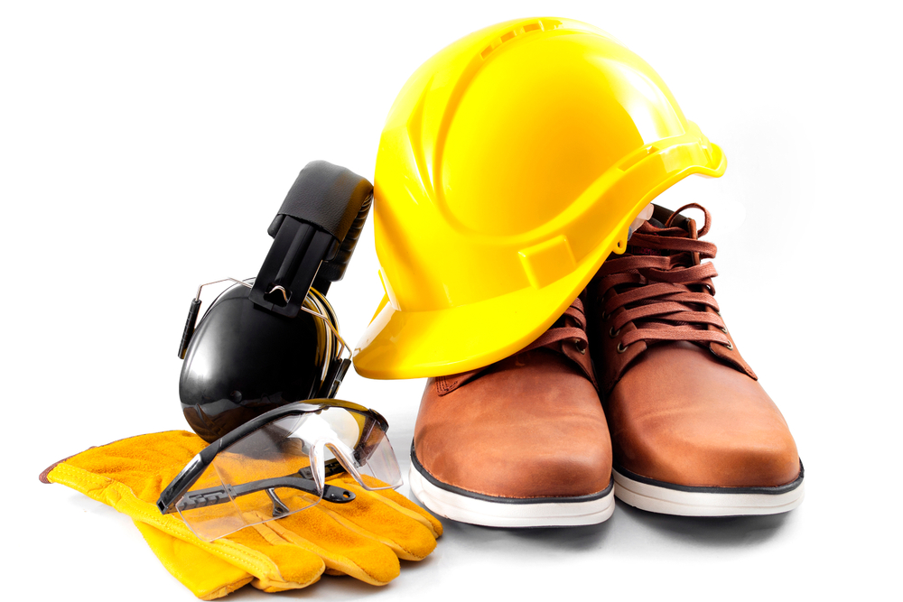 itens de segurança usados em canteiro de obras.